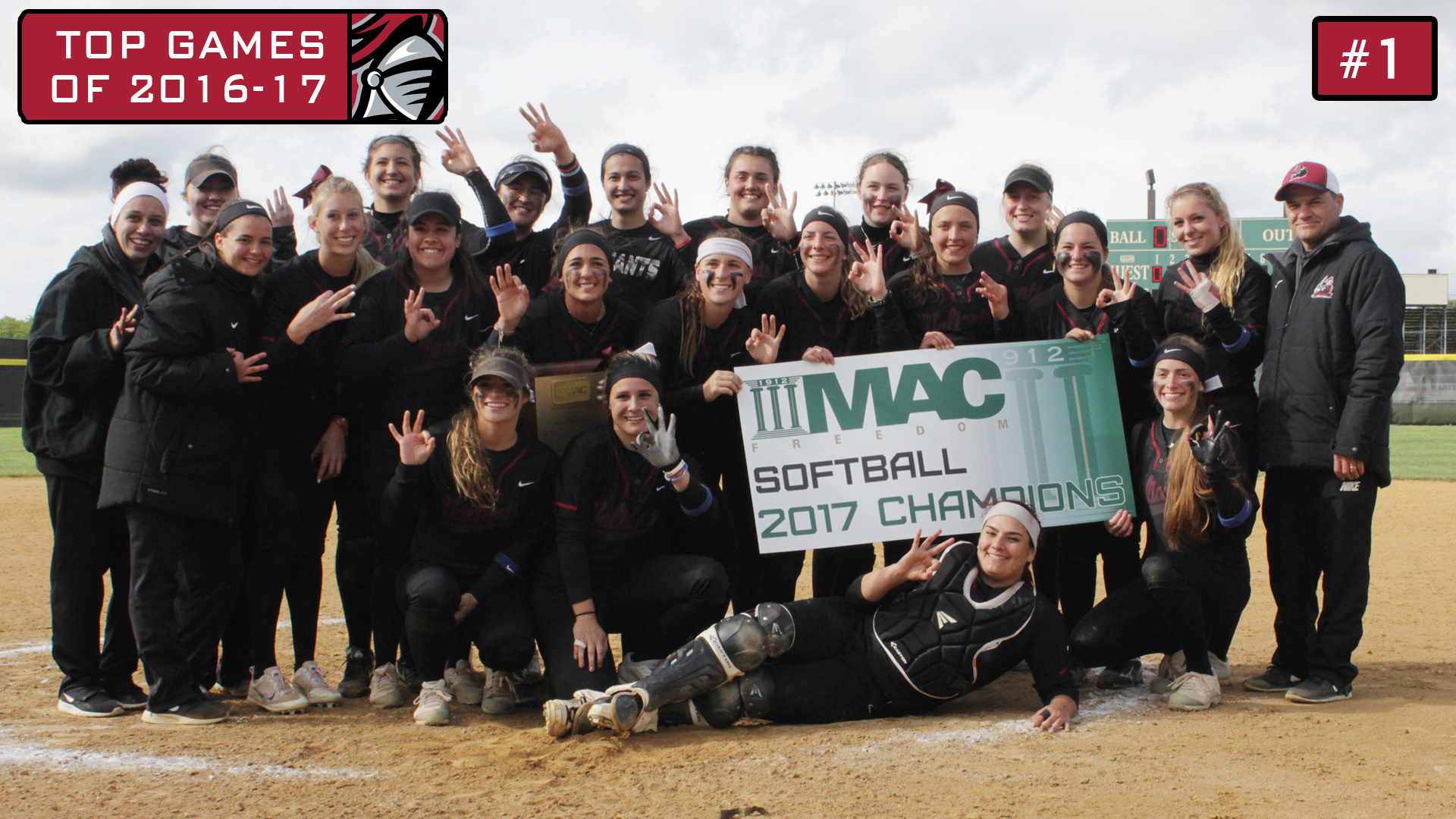 2016-17 Top Games: Softball Wins Three Games on Sunday to